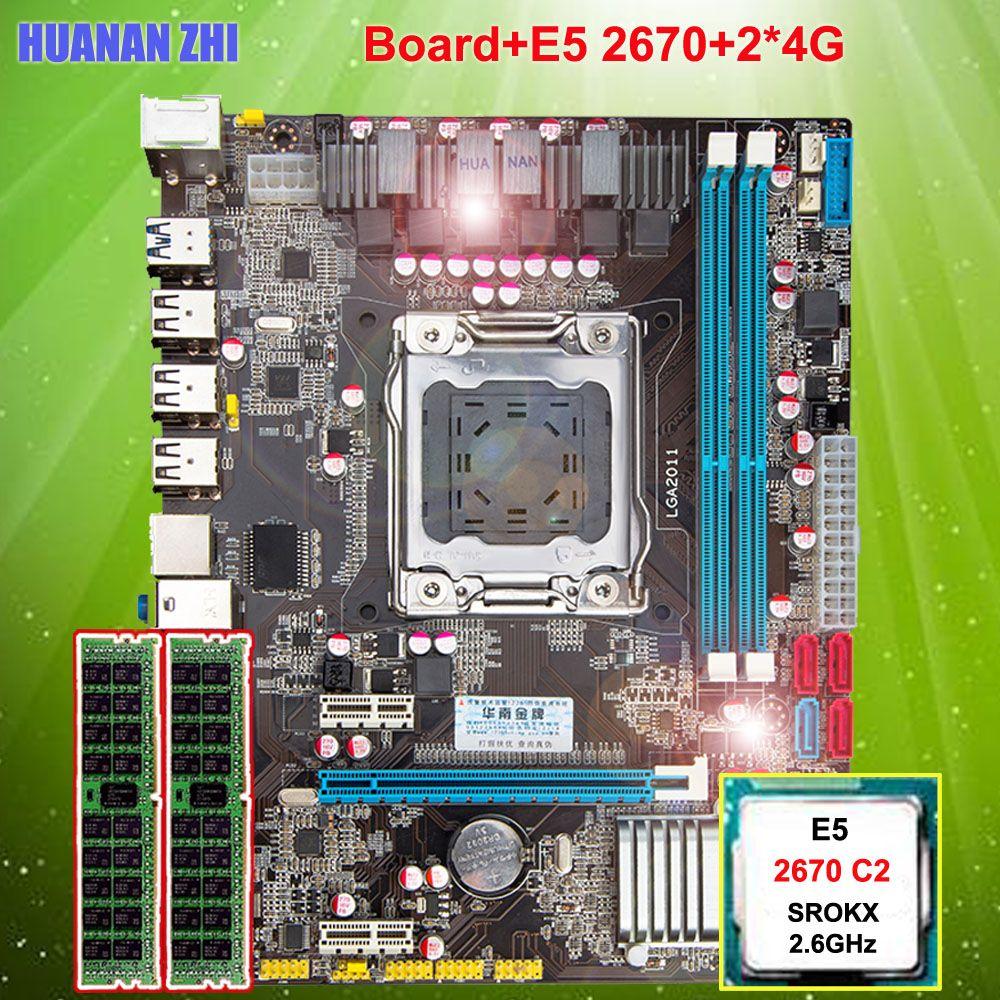 Highly recommend HUANAN ZHI X79 motherboard CPU RAM computer CPU Intel Xeon E5 2670 SROKX 2.6GHz memory 8G(2*4G) DDR3 REG ECC