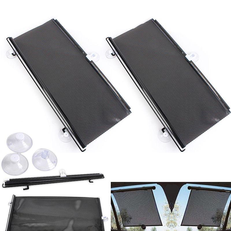 Car Window Black Roller Block blinds Shades for Sun Visor Windshield 40cm x 60cm Auto Car Curtain Side Window Protector