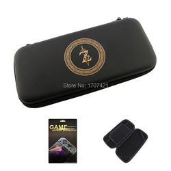 Black EVA Storage Bag Cover Case for Nintend Switch for NS Console with Free HD Screen Film Protector