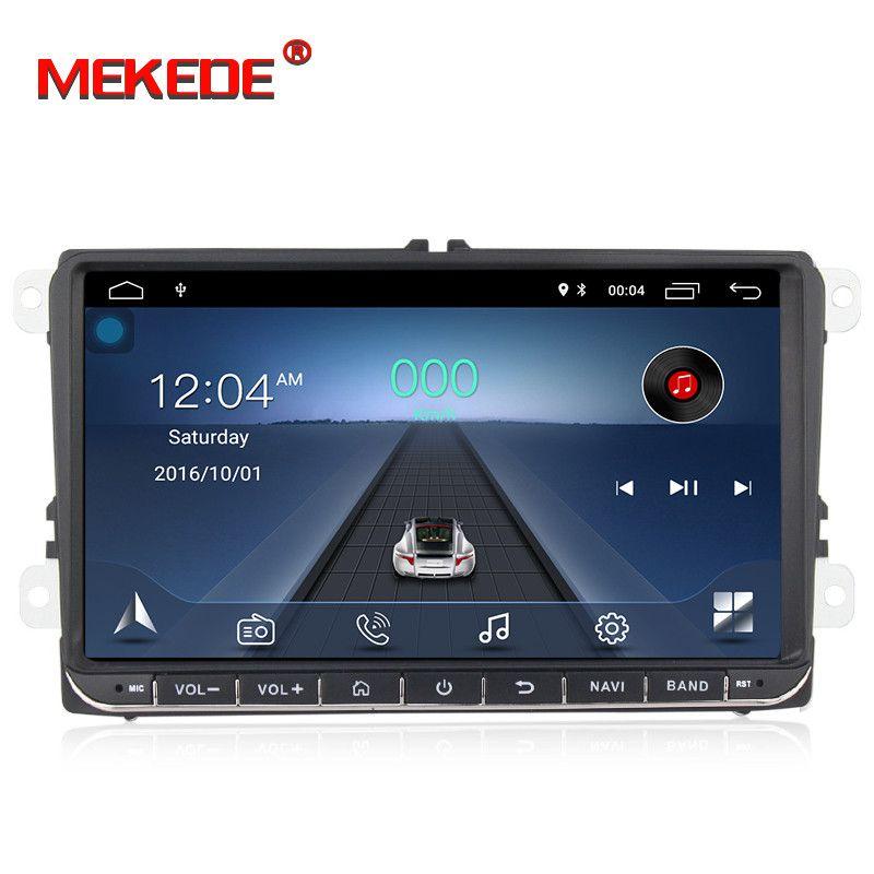 GPS multimédia de voiture d'android HD navigation pour VW Volkswagen Polo Passat CC Golf V VI MK4 Tiguan Jetta Amarok soutien BT SWC