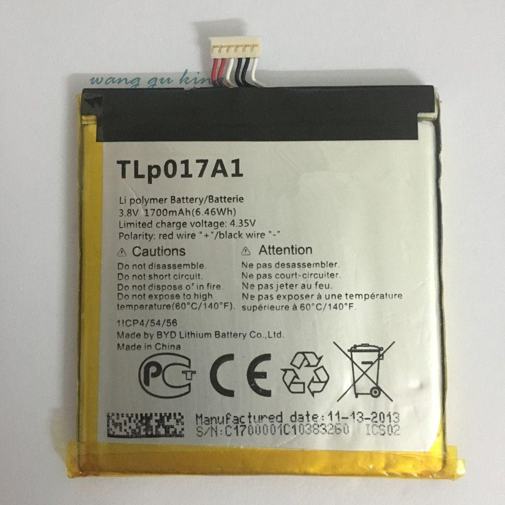 1PCS 100% high quality 1700mAh TLp017A1 TLp017A2 battery For ALCATEL one touch idol mini OT6012 6012A 6012W 6012E 6012D S530T