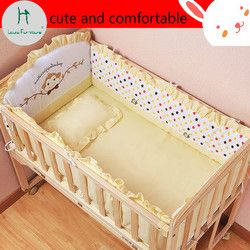 louis fashion children bed Baby solid wood paint free rocking push variable desk cradle