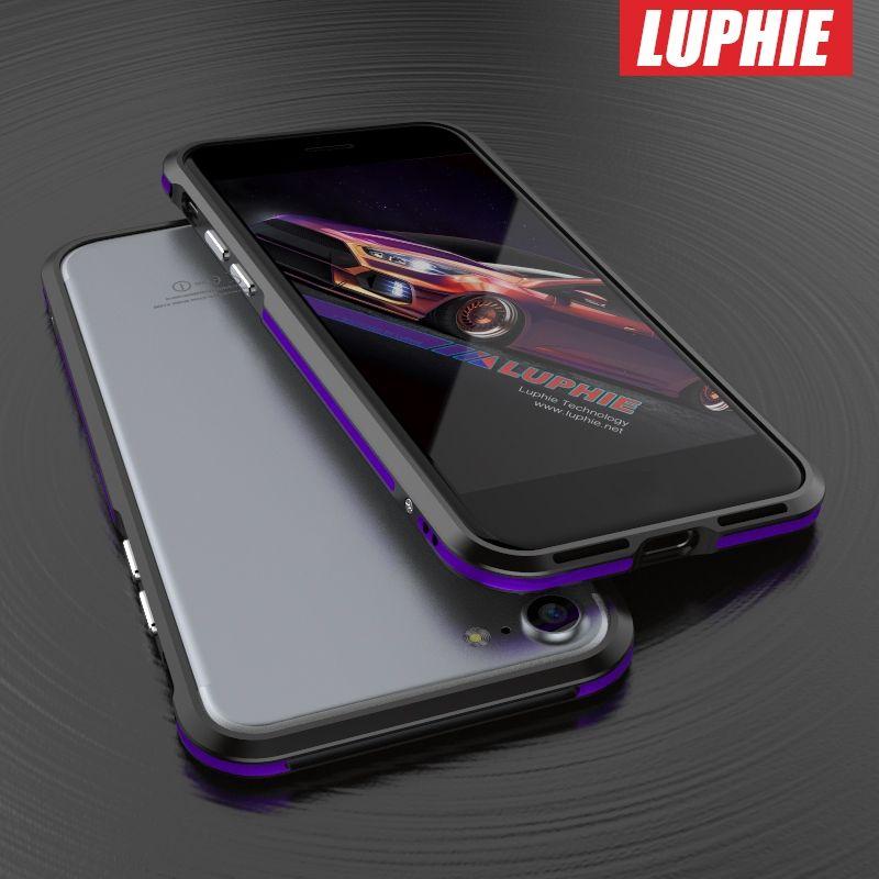 Pour IPhone 6 6 s Cas de Téléphone D'origine LUPHIE Aluminium Métal Cadre Double Couleur Couverture de Butoir De Cas pour iphone6 6 s shell