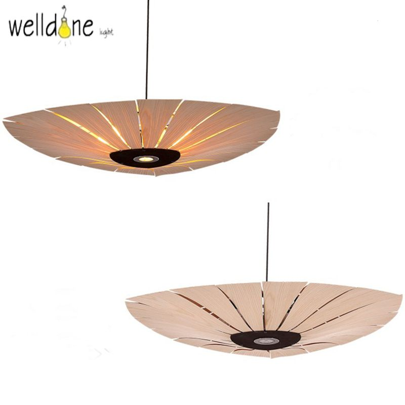 Tradition design Wooden Southeast Asia Chinese Style Bamboo pendant lamp for Restaurant Veneer Dining Room master room Lights