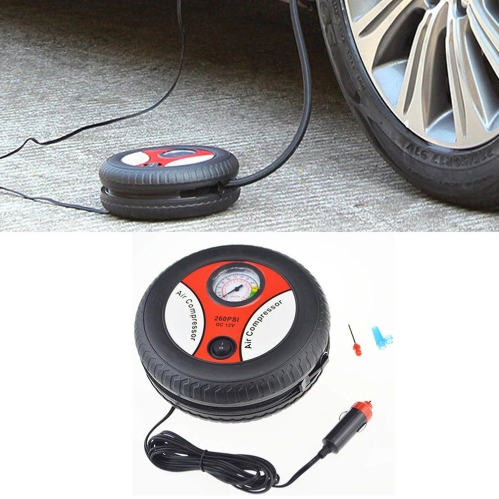 Car Mini Inflatable Pump Air Compressor Tire Design 12V Input Air Pumping Tire Pumps Voltage Electric Inflating Machine