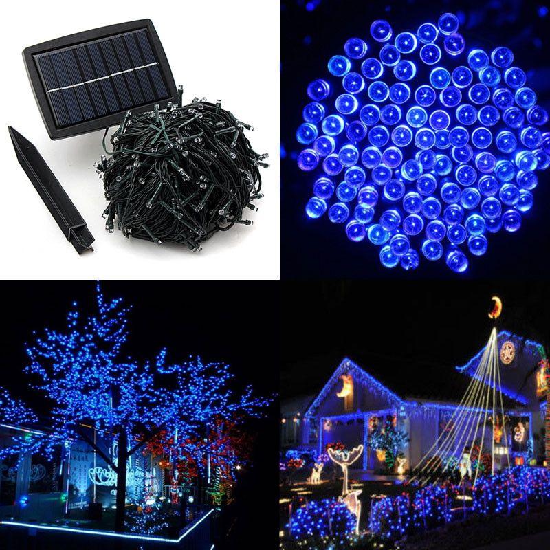 50 M 500 LED Solaire Fée Lumière de Bande pour Noël Festival Lumières Chaîne rechargeable batteries Pour La Décoration De Jardin