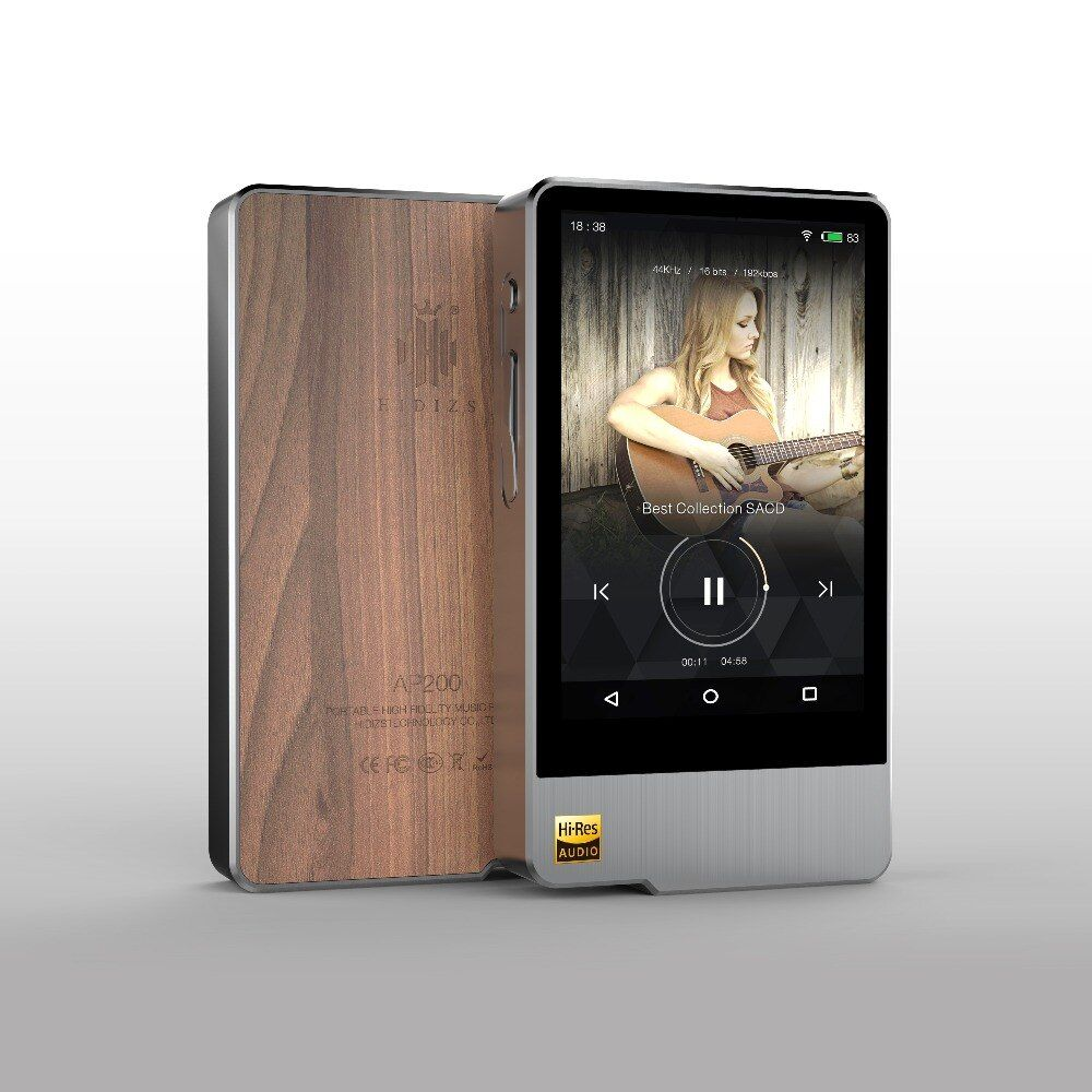 Hidizs AP200 Android Bluetooth 5.1 HiFi Music Player 32G/64G (build-in memory) 3.54'IPS Double ES9118C DAC DSD PCM FLAC MP3
