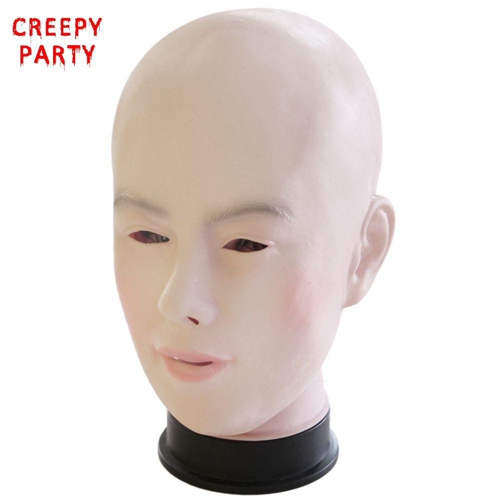 Masque féminin réaliste pour Halloween masque de fête en Latex humain femme masque Sexy fille Crossdress Costume Cosplay masque