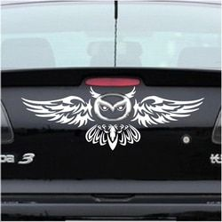 Aliauto Mobil Belakang Logo Dekorasi Owl Styling Mobil Lucu Stiker Anbd Decal untuk Mazda 2 3 5 6 CX-3 MX-3 MX-5 CX-7 CX-5 Axela