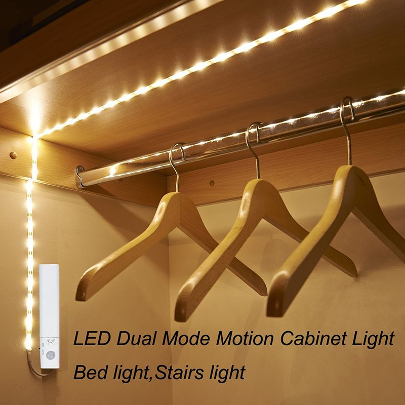 Amagle Led Motion Sensor Night Light Flexible LED Flashlight Strip Automatic Motion Activated Bed Stair Lights Free Shipping