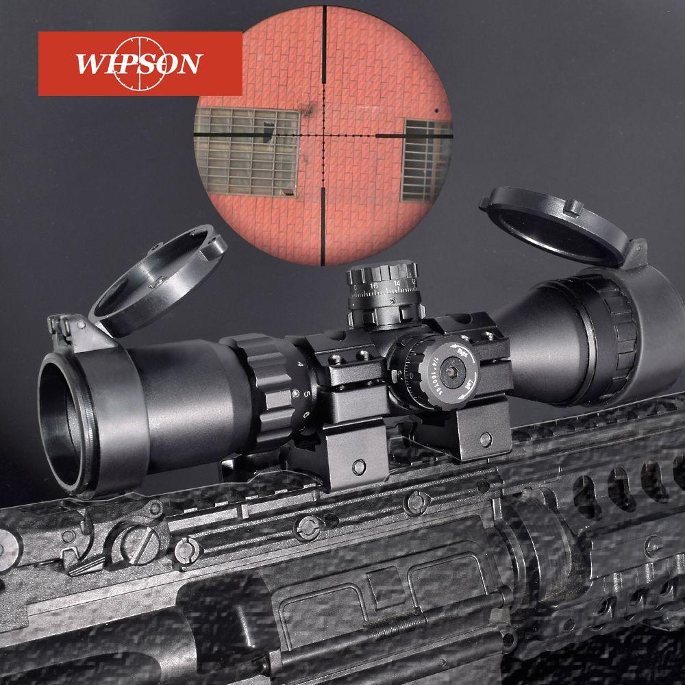 WIPSON Jagd Optische 3-9x32 AO 1 zoll Rohr Mil-dot Compact Zielfernrohr Mit Sonnenschutz und QD Ringe Taktische zielfernrohr
