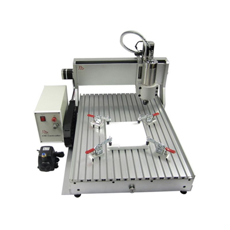 Metal glass wood cnc router 4Axis VFD2.2KW CNC 6090 milling machine USB PORT engraving router
