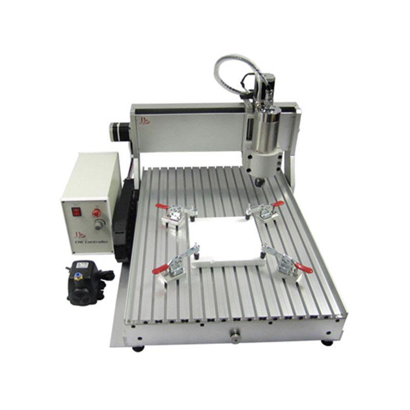 4 Achsen VFD2.2KW CNC 6090 fräsmaschine USB-ANSCHLUSS gravur router für metall glas holz cnc router