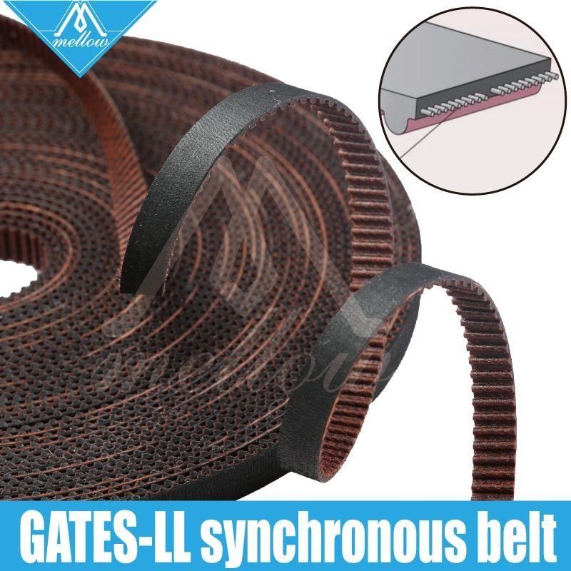 Courroie synchrone de vitesse de GATES-LL-2GT d'imprimante 3D de haute qualité GT2 largeur 6MM 9MM 10MM courroie de distribution, résistant à l'usure pour BLV mgn Cube