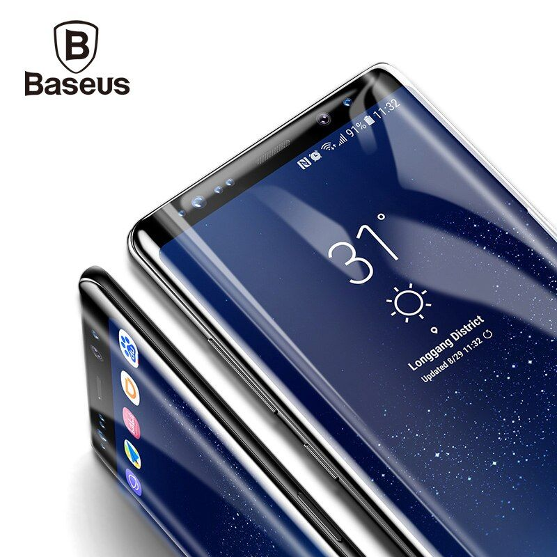 Baseus Tempered Glass For Samsung Galaxy Note 8 Premium 3D Arc Screen Protector For Galaxy Note 8 Full Protective Glass Film