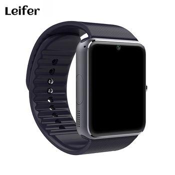Лейфер Новинка; Лидер продаж смарт-часы GT08 Поддержка sim-карты Bluetooth Подключение для apple iphone телефона Android SmartWatch