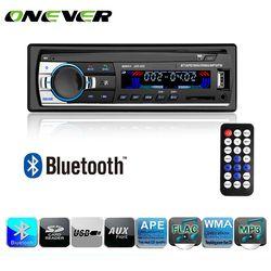 Onever Autoradio Car Radio 12 V Bluetooth coche estéreo en el tablero 1 Din FM RECEPTOR de entrada auxiliar SD USB MP3 MMC WMA reproductor de Radio de coche