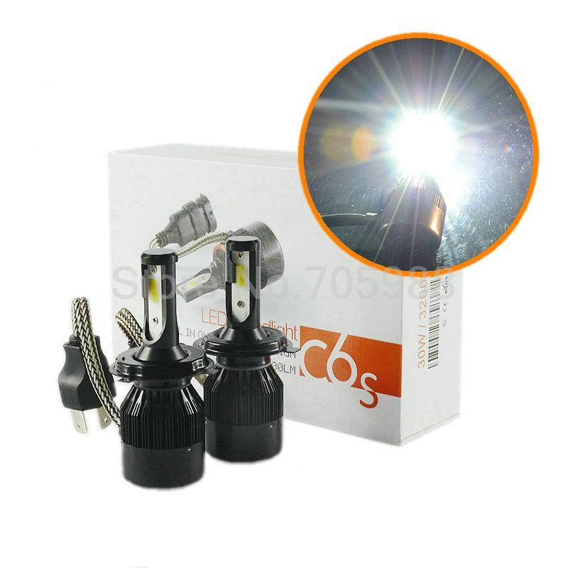 1 компл. балласты + вентиляторы + лампы 60 Вт 6400LM светодиодные фары комплект H1 H3 H4 H7 H8 H9 H11 9005 9006 9012 9004 9007 H13 автомобиль светодиодные фары лампа