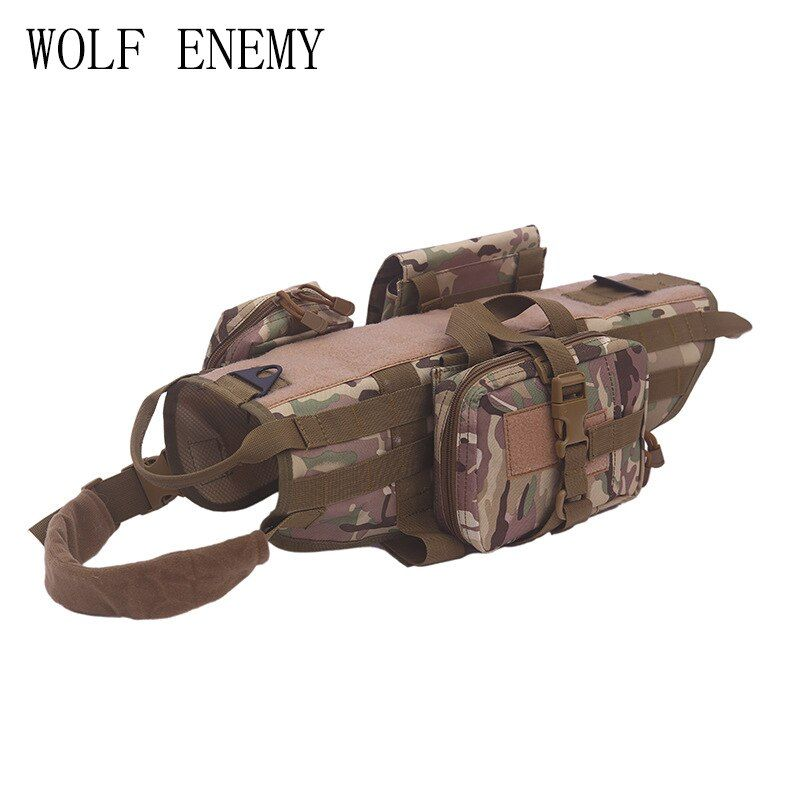Army Tactical Dog Vests Military Dog Clothes training Load Bearing Harness SWAT Dog Training rescue Molle Vest Harness XS-XL