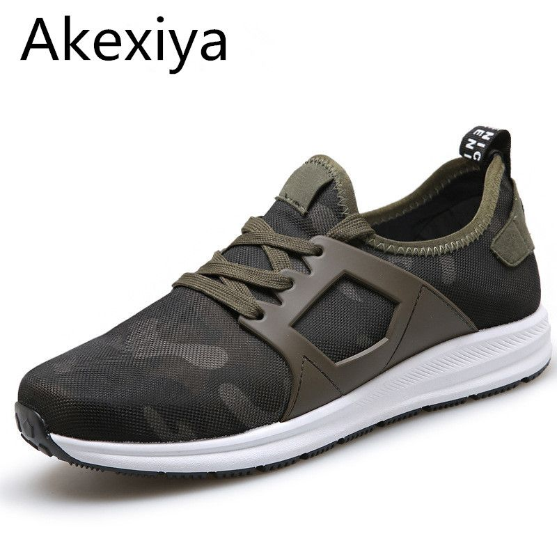 Akexiya Super New 2017 Men Casual Shoes Canvas Camouflage Star Style Male Shoes Comfort Soft Walking Driving Shoes Men Trainers