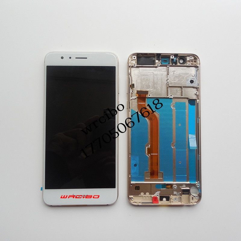 Wrcibo for Huawei Honor 8 Original LCD Display Touch Screen Digitizer Assembly With Frame Black White Gold Blue