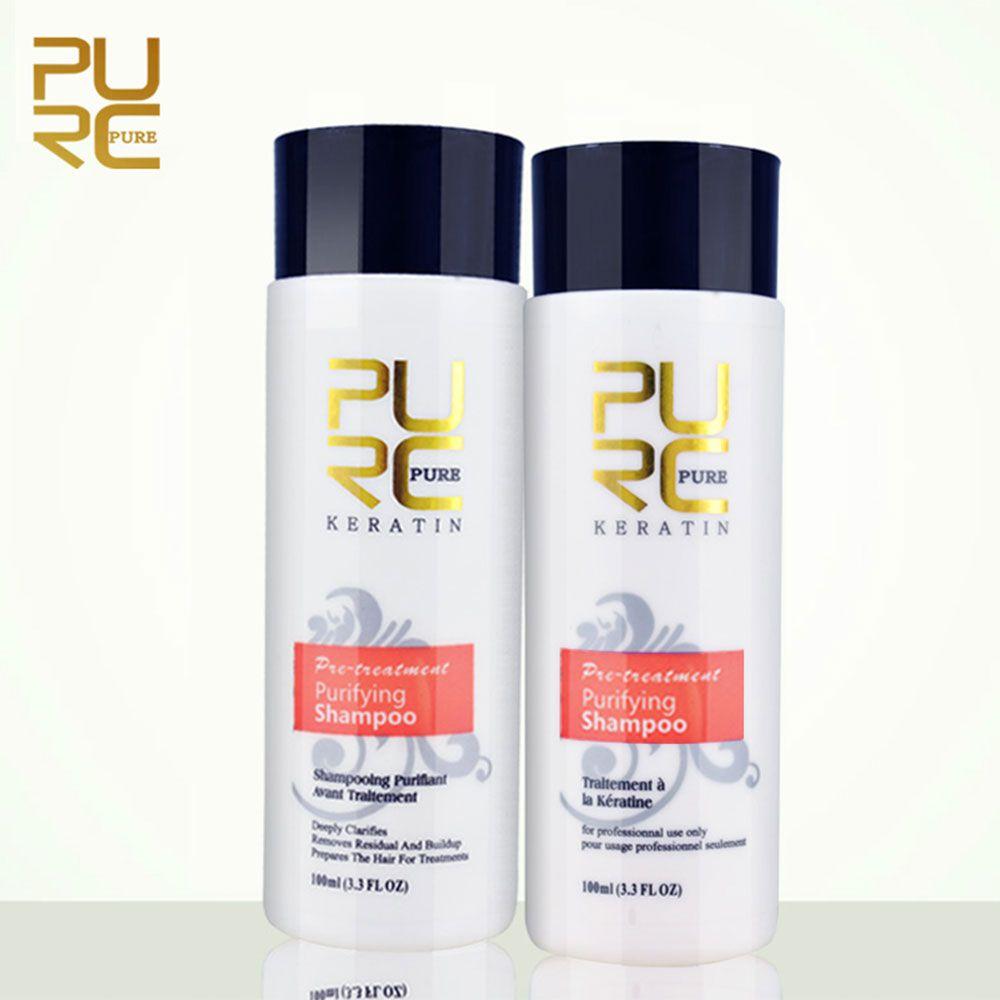 PURC 1 pièces traitement des cheveux au formol kératine shampooing purifiant pour dommages cheveux réparation produits de soins capillaires shampooings livraison gratuite