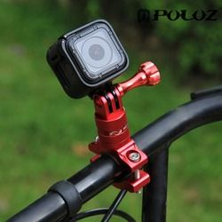 PULUZ 360 Degree Rotation Bicycle Adapter Mount Aluminum Alloy Handlebar With Screw For GoPro HERO 6 5 Session 5 4 Session 4 3+