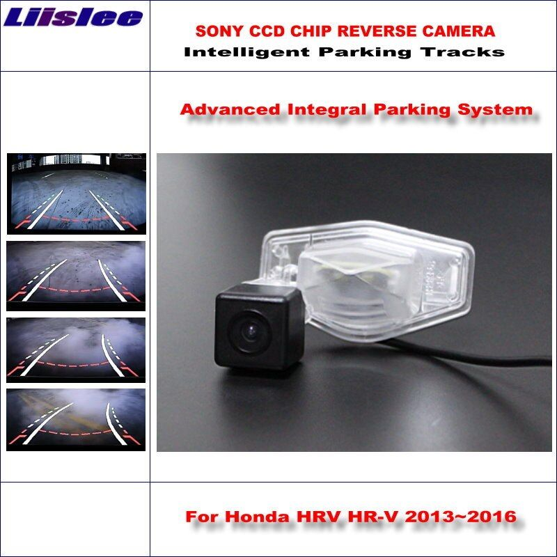 Liislee Intelligent Parking Tracks Rear Camera For Honda HRV HR-V 2013~2016 Backup Reverse / NTSC RCA AUX HD SONY 580 TV Lines