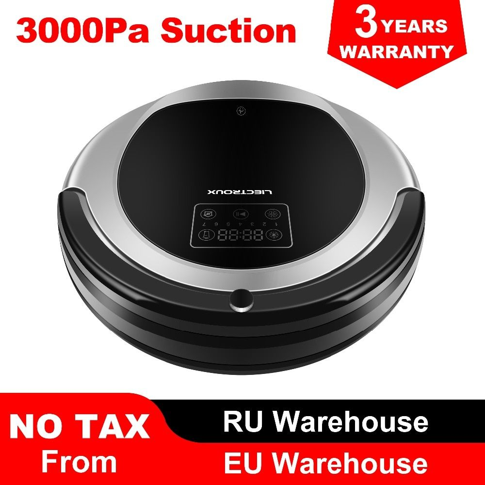 (FBA)LIECTROUX Robot Vacuum Cleaner B6009,Map Navigation,Smart Memory,Suction 3000pa,Dual UV Lamp, Wet Dry Mop,Robot aspirador