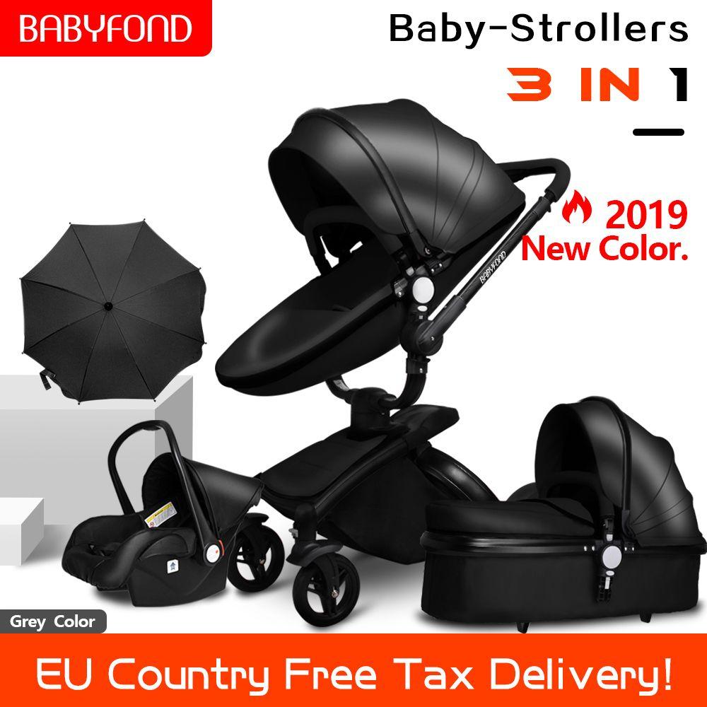 Schnelles verschiffen! Baby kinderwagen klapp zwei-möglichkeit push luxus hohe landschaft 3 in 1 baby wagen mit auto sitz 6 stücke freies geschenke