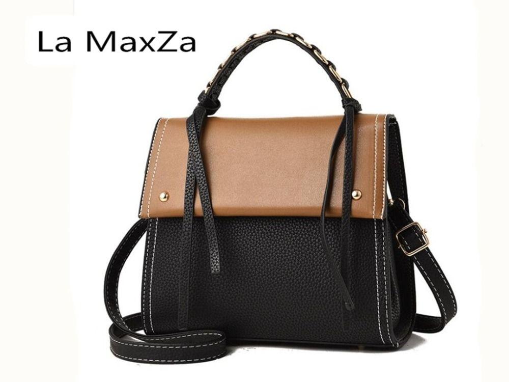 La MaxZa 2018 new fashion atmosphere handbag bag simple ladies bag handbag bag shoulder Messenger bag