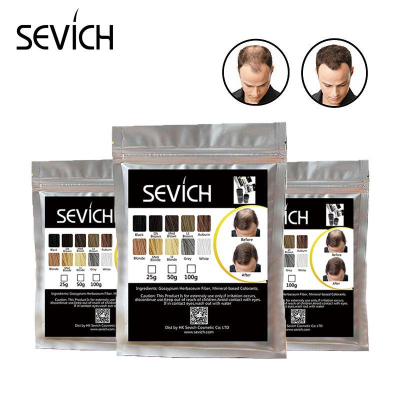 Pulvérisateur Croissance SEVICH Cheveux Fiber Perte De Cheveux Correcteur Kératine Fiber de Renforcement Des Cheveux Poudre Style Mélangeur 100g