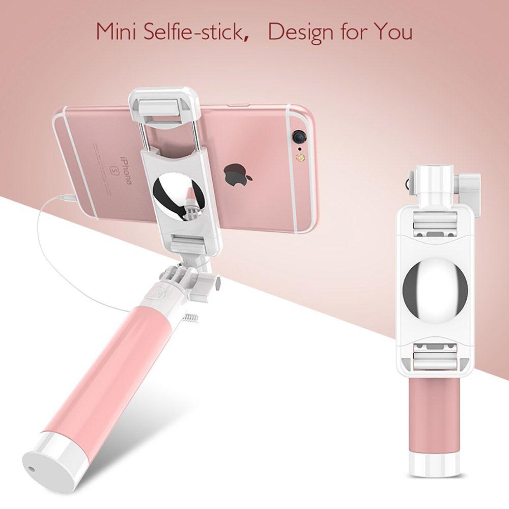 Mode Verdrahtete Selfie Stick Candy Farbe Einstellbar Einbeinstativ Für iPhone 6 6 s Plus 5 5 s SE Für Samsung xiaomi Huawei LG Zubehör