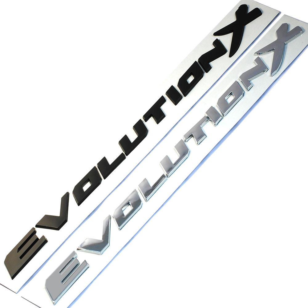ABS Пластик Эволюция X письмо эмблемы Автомобиль установка 3D Стикеры наклейка для Mitsubishi Outlander ASX Lancer Pajero evo