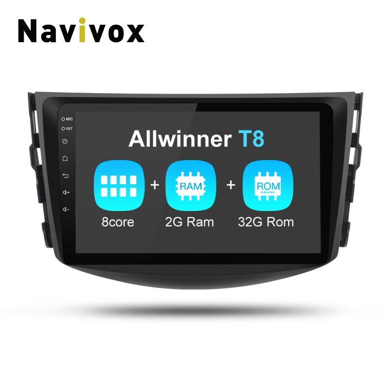 Navivox 8 Core 8'' 2din Android 7.1.2 Car GPS Video Player For RAV4 RAM 2G Rom32GB Matte Black Shell RDS/WIfi/BT/SWC/3G/4G