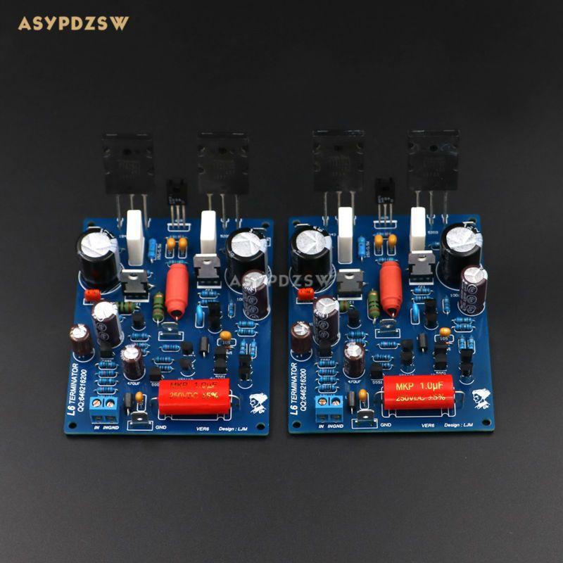 2 PCS Channel L6 power amplifier board Low noise ultra linear bipolar transistor amplifier finished board