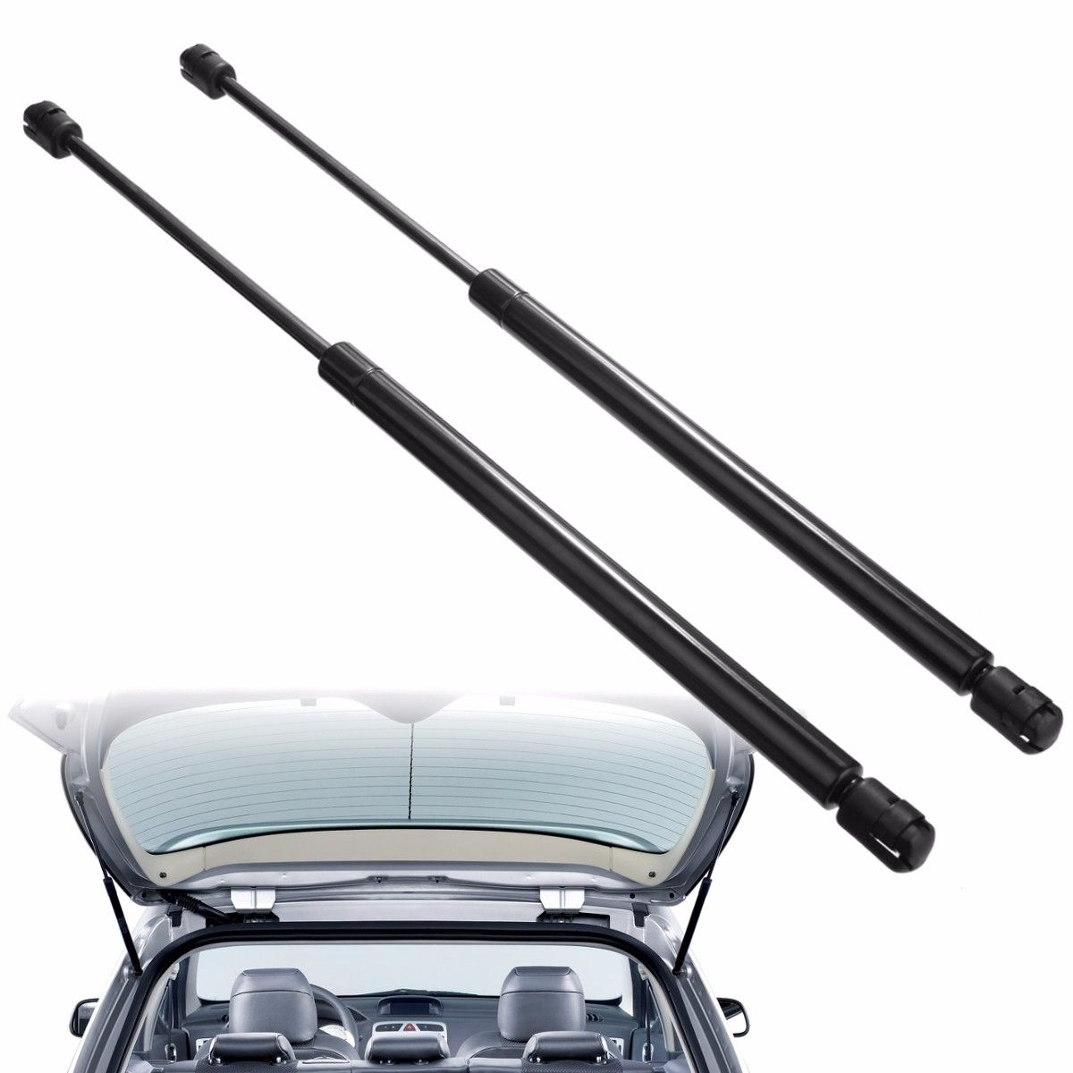 For Peugeot 307 2002-2008 20 inch Rear Tail Gate Gas Struts Boot Holders Lifter Support