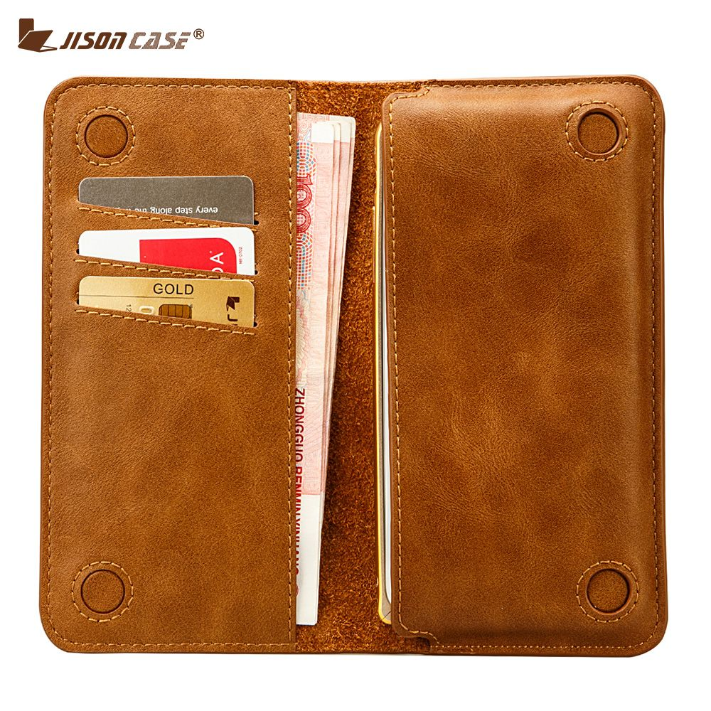 Jisoncase Leather Wallet Case for iPhone 8 8 Plus Phone Cases Bag Magnetic Cover Luxury Sleeve Pouch for iPhone X 7 7 plus 5.5