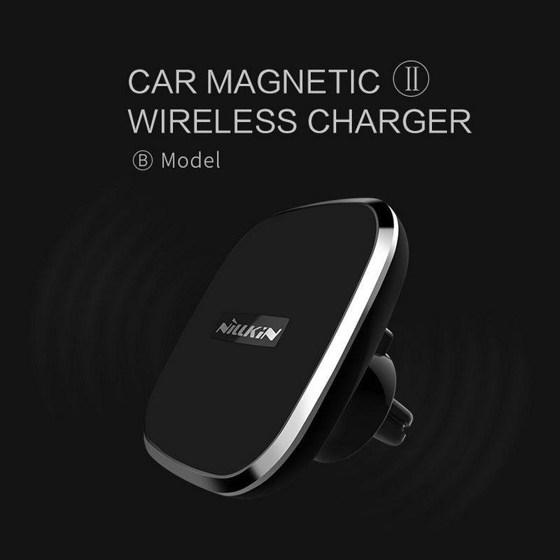 NILLKIN De Voiture magnétique sans fil usb chargeur Pour IPhone 7 7 plus 6 6 s plus Samsung Galaxy S6 S7 S7 Bord S8 PLUS Air Vent Mount pad