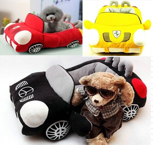 Cute Luxury Cool Unique Dog Car Beds Detachable PP Cotton Padded Small Dog House Waterproof Bottom Puppy chihuahua Sofa Bed