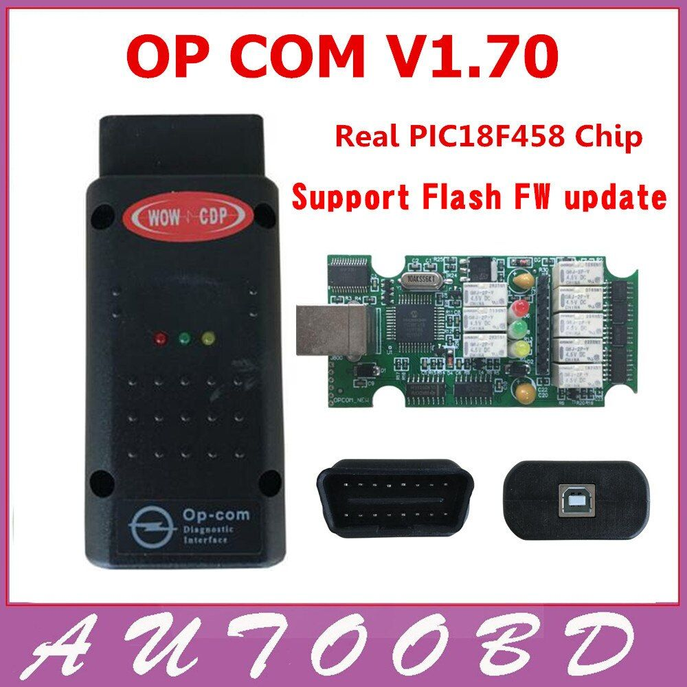New !! OP Com V1.70 with PIC18F458 Chip Auto Diagnostic Interface OPCom obd2 for Opel V1.70 Opel Op-com Support Flash FW Update