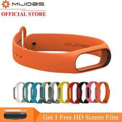 Mijobs Colorful Silicone Strap for Xiaomi Mi Band 2 mi band 2 bracelet mi band 2 strap Wristband Replacement Miband 2 Strap