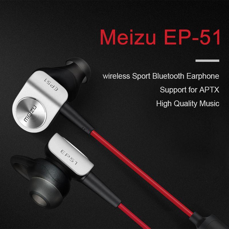 Original Meizu EP-51 EP51 Bluetooth casque sans fil auriculares clair basse sport écouteur avec micro apt-x casque