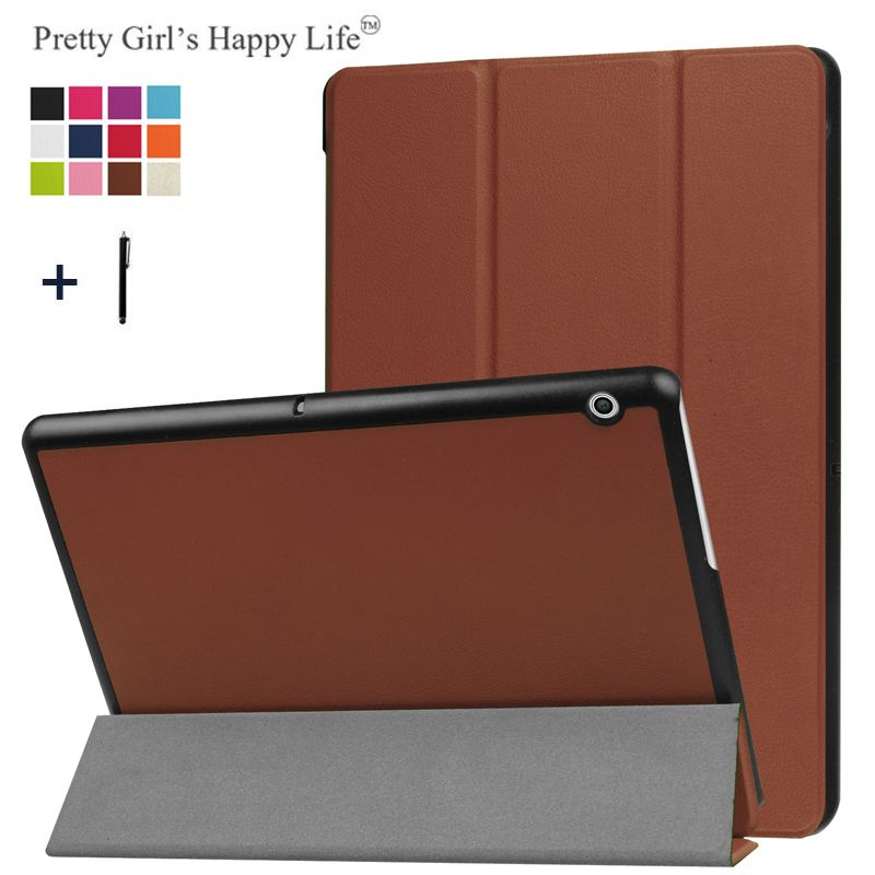For HUAWEI MediaPad T3 10 9.6'' Case Cover For Huawei Honor Play Pad 2 9.6 Tablet Stand Leather Fundas+Stylus