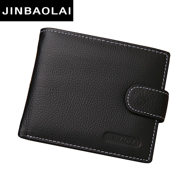 Genuine Leather Men Wallets Brand High Quality Design Wallets with Coin Pocket Purses Gift For Men Card Holder Bifold Male Purse
