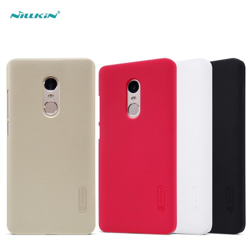 Pour redmi note 4 étui Nillkin givré en plastique dur couverture de protection arrière pour redmi note 4 étui de téléphone portable protecteur d'écran