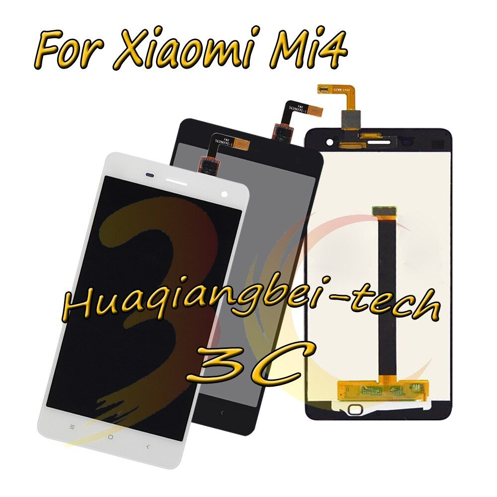5.0'' New Black / White For Xiaomi Mi 4 M4 Mi4 Full LCD DIsplay + Touch Screen Digitizer Assembly 100% Tested + Tracking