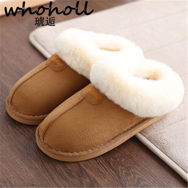 Home slippers women plush Slipppers Australia UG style female <font><b>house</b></font> Indoor man Bathroom slippers solid Adult pantufa For lovers