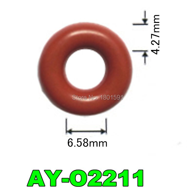6.58*4.27mm 50pcs rubber seal oring for fuel injector repair kit fit for delphi second generation nozzle OEM25335146 (AY-O2211)