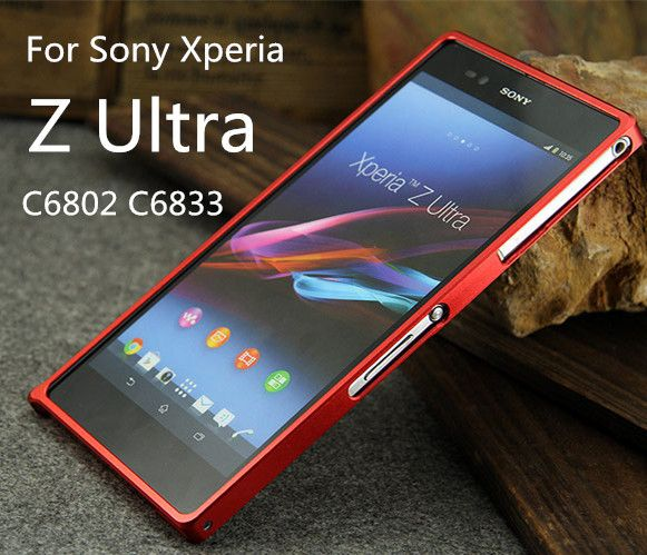 TX For Sony Z Ultra Metal Frame Aluminum bumper for For Sony Xperia ZU Z Ultra C6802 C6833 capa fundas with screw driver
